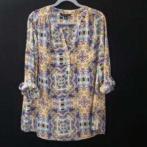 Sharagano Woman | Long Sleeve Blouse | Size 2X